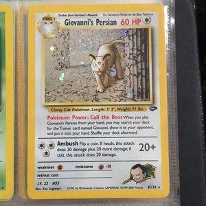 Giovanni's Persian Pokémon card